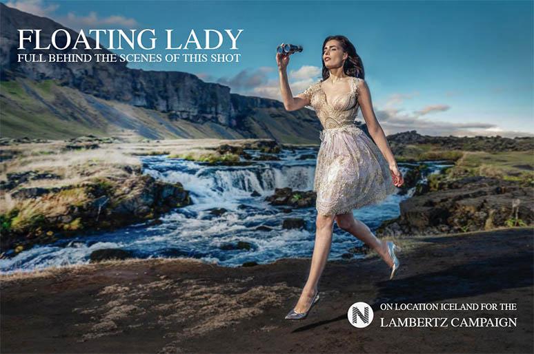 fashion photographers blog- advertising photographer photographer james nader - floating lady