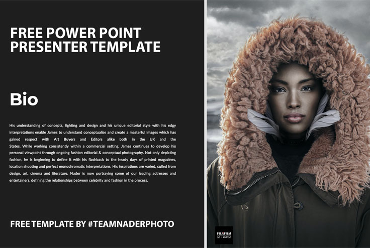 fashion photographers power point presentation template - free